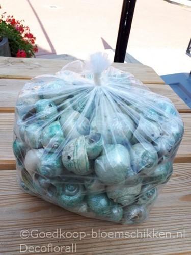 Nattai schelpen geboord, groen parelmoer, 500 gram