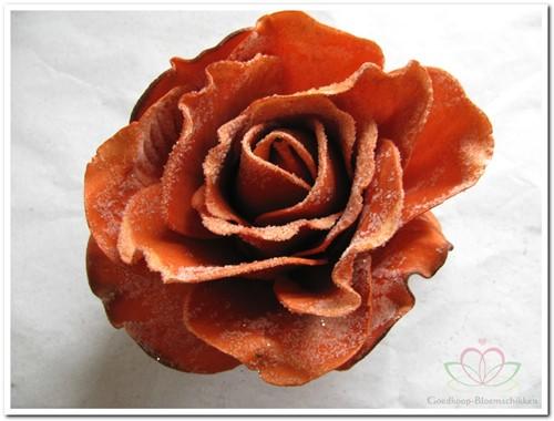 foam Rose Sophie 15cm. snow Rusty Doos12 voordeelpak