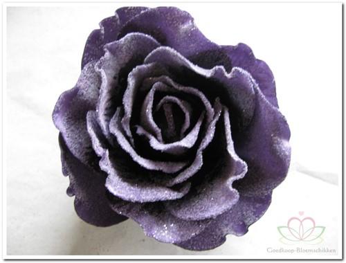 foam Rose Sophie 15cm. snow Purple Doos12 voordeelpak