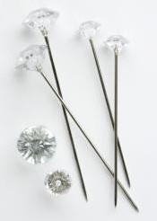Oasis Diamant Pins Clear10 mm / doosje Oasis® Diamant