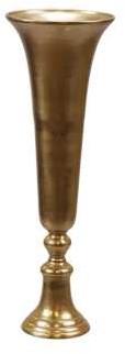 Vaas Goud tafeldecoratie bloesemtakken bloemenbollen 19*55 cm. Centerpiece 1 rough Gold plated vase