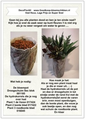 1 Werkbeschrijving sparen max 1 per klant Pot Botanical zij - Pot Botanical zijde klik voor eigen keuze