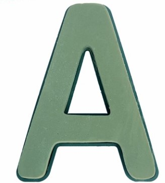 Letter A van Steekschuim met bodem en clip Premier Premier FLORAL FOAM PLASTIC BACKED CLIP ON