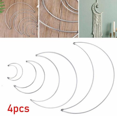 Frames voor Metalen maan Set 50mm, 100mm, 150mm, 200mm voor bv macrame = zonder decoraties
