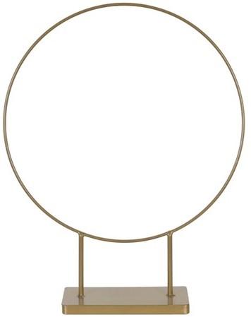 Rond frame op voet Med goud 38x10x48.5cm Ring on foot metal