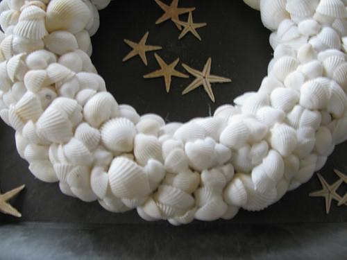 Pakket: DIY Schelpenkrans wit voor een krans van 30 cm