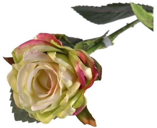 Zijderoos Diamond Rose Light Green 40cm prachtige kwaliteit zijderozen