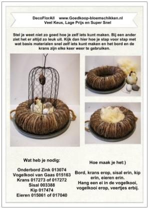 1 Werkbeschrijving sparen max 1 per klant Vogelkooi Stolp - Vogelkooi Stolp klik voor eigen keuze