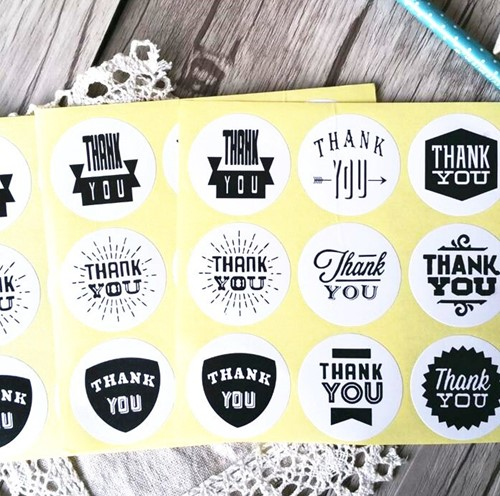 90 Stickers Labels Thank you assortiment 90 Stickers Labels Thank