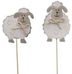 Bijsteker Houten schapen per stuk Schaapjes foto