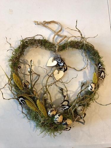 Pakket hart van wilgen A Wie draag jij een warm hart toe?
